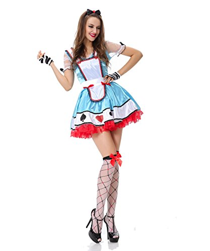 Candygirl Womens Naughty Alice in Wonderland Beer Maid Adult Costume
