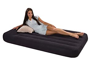 Intex Pillow Rest Classic Airbed with Built-in Pillow and Electric Pump, Twin
