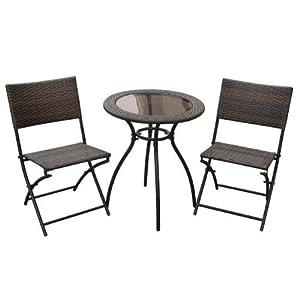 milano bistro folding garden furniture set