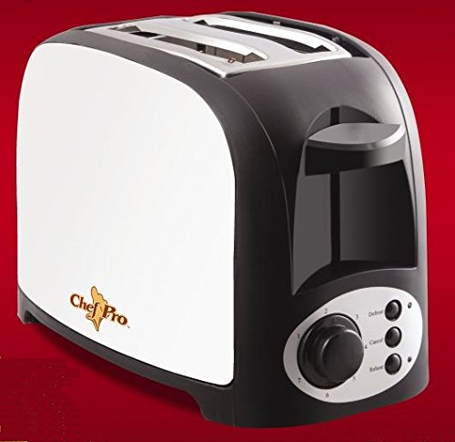 Chef Pro CPT542 750-Watt Pop-up Toaster (Silver/Black)