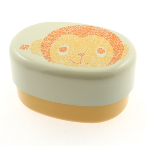 Kotobuki 2-Tiered Bento Box, Orange Monkey