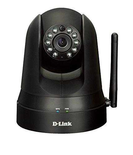 D-Link DCS-5010L mydlink Home Videocamera di Sorveglianza Cloud con Monitor 360, Motorizzata, Visore Notturno, Notifiche Push per iPhone/iPad/Smartphone, App Gratuita, Nero/Antracite