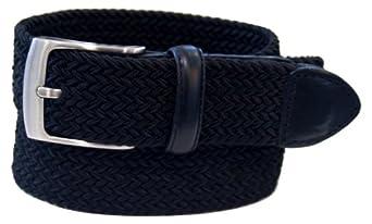 Dockers Men's Stretch Woven Belt,Black,32