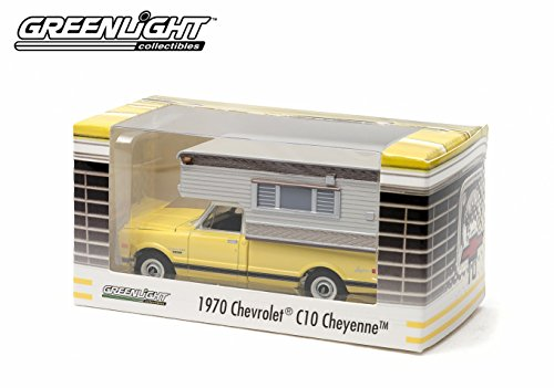 1970 Chevrolet C10 Cheyenne with Camper * Yellow* Limited Edition Hobby Exclusive) 1:64 Scale 2014 Greenlight Collectibles Die Cast Vehicle