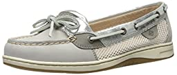 Sperry Top-Sider Women\'s Angelfish Boat Shoe, Light Grey, 8 M US