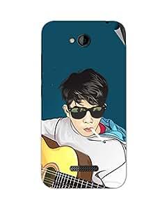 Miicreations Mobile Skin Sticker For HTC Desire 616,Guitar Boy