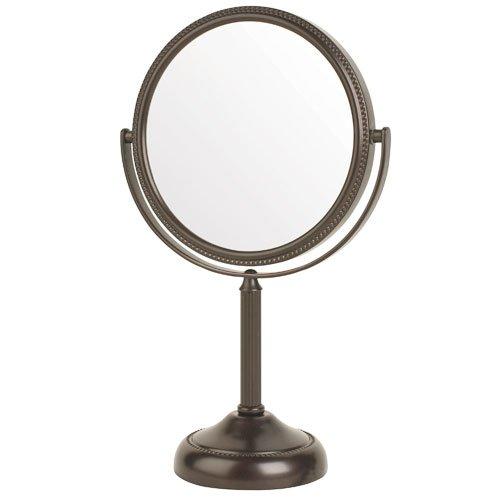 Jerdon Jp910bzp 6 Quot Pedestal Vanity Makeup Mirror 10x