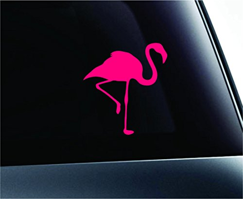 Car Flamingo Silhouette Symbol Decal Funny Car Truck Sticker Window (Pink) (Flamingo Decal compare prices)