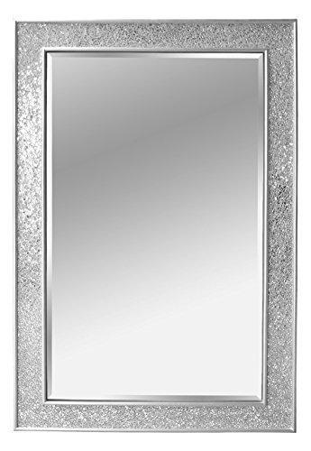 Specchio Mosaico - Argento - Legno - Grandi - 90 x 60 cm