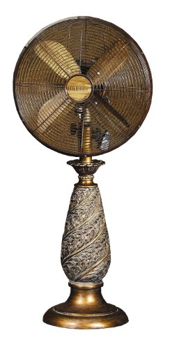 Deco Breeze Table Fan, Aurelias, 31-Inch Tall with 12-Inch Fan Head
