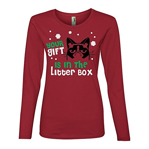 grumpy-cat-your-gift-is-in-the-litter-box-christmas-holiday-shirt-red-m