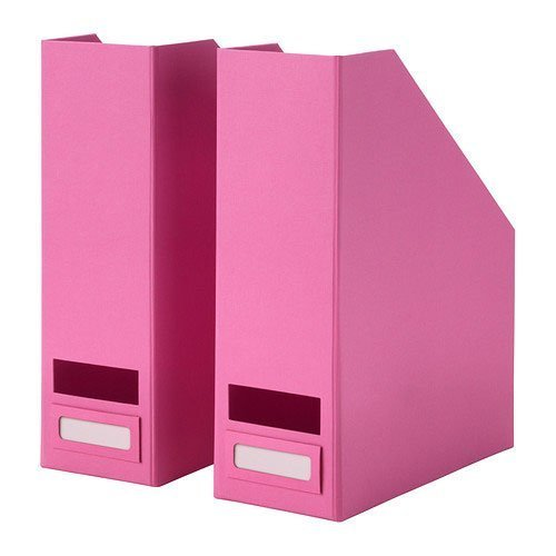 1 X Set of 2 Ikea Tjena Magazine File Organizer Storage Pink