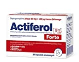 ACTIFEROL FE FORTE Iron 60mg + Folic Acid 200uq - 30 capsules - Bioavailable Iron Supplement - Iron deficiency states - Prevent Anemia - Energy Vitality Support NEW