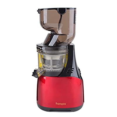 """hanyou 60rpm Whole Slow Juicer 3.18"""" Inches (81mm) Wide Chute Slow Juicer 250w AC Motor Masticating Slow Juicer Low Speed Juicer Whole Fruit Slow Juicer Extractor from hanyou"""
