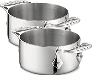 All-Clad 59914 Stainless Steel Dishwasher Safe 0.5-Quart Soup Souffle Ramekins, Set of 2... by All-Clad