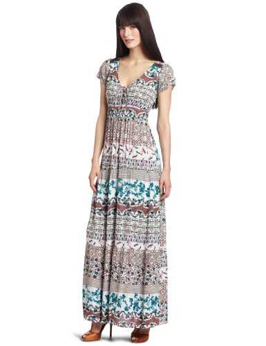D.E.P.T. Women's Romance Structured Maxi Dress