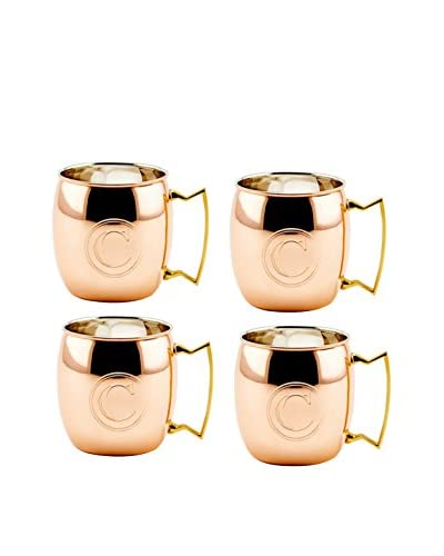 Old Dutch Set of 4 Copper 16-Oz. Moscow Mule Mugs Monogrammed C