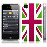 iPhone 4S / iPhone 4 'Cool Britannia Green' (Designed by Creative Eleven) TPU Gel Skin / Case / Cover -by Activ8 Distribution Ltd