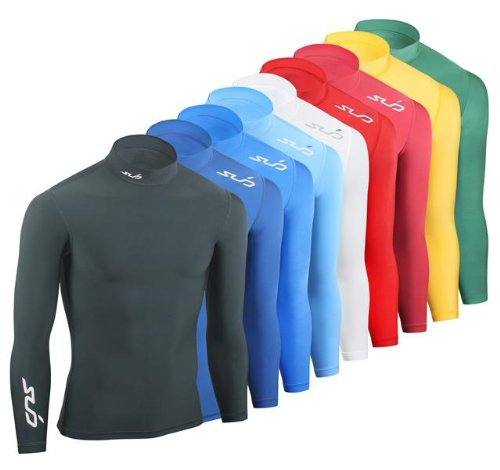 Sub Sports Men's Cold Mock Neck Thermal Compression Baselayer Long Sleeve Top - Orange, XX-Large