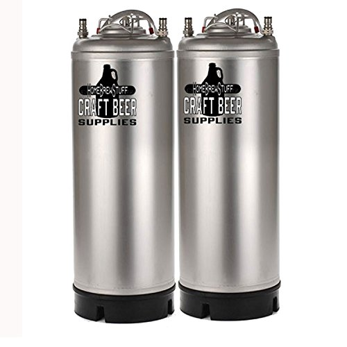 New 5 Gallon Soda and Tonic Water Keg with Ball Lock Posts (Pack of 2) (New Soda compare prices)