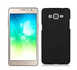 Plus Rubberised Matte Hard Case Back Case Cover For Samsung Galaxy J2 (2016) - Black