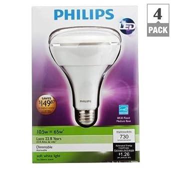 philips 423798 10 5 watt 65 watt br30 indoor soft white. Black Bedroom Furniture Sets. Home Design Ideas