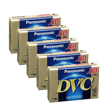 Panasonic AY-DVM80EJ MiniDV 80min/120min (LP) Data Tape Cartridge 5 Packs
