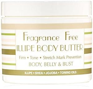 Basq Illipe Body Butter, Fragrance Free, 4 Ounce