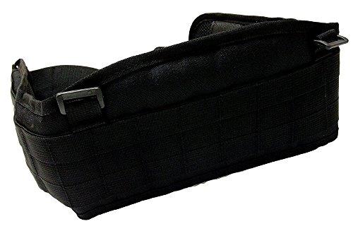 (ガン フリーク) GUN FREAK タクティカル カマー バンド ベルト パッド molle システム 対応 サスペンダー 付き サバゲー ( ブラック )