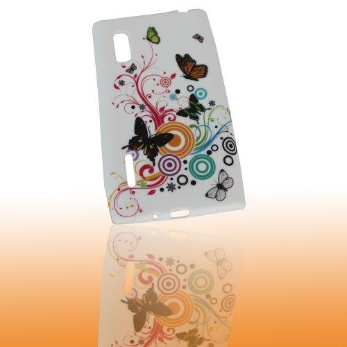 Handy Kondom Silikon Case Schutzhülle HW369 für LG E610 Optimus L5 / Handytasche Silicon Hülle Tasche Case
