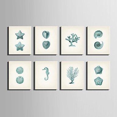 "Generic Stretched Canvas Art Marine Organisms Series Decoration Painting MINI SIZE One Pcs 7"" x 10"" #P3549"