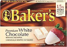 Baker's Premium White Chocolate Baking Squares, 6-Ounce Box (Pack Of 6)