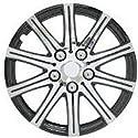 Pilot Automotive WH528-14SE-B Stick Wheel Cover - Black Polish - Silver - 14 Inch