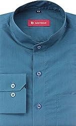 HASTINGS Men's Formal Shirt (V99_42, Blue, 42)