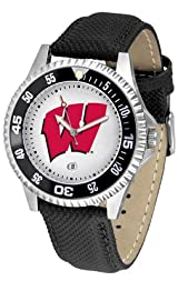 Wisconsin Badgers Competitor Watch - Poly-Leather Band