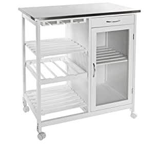 Kitchen Island Trolley With Table Top In Stainless Steel Kitchen Home