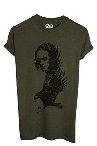 T-Shirt IL CORVO - FILM by MUSH Dress Your Style - Uomo-L-VERDE MILITARE