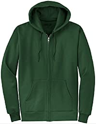 Joe\'s USA(tm) Full Zipper Hoodies - Hooded Sweatshirts Size 2XL, Dark Green