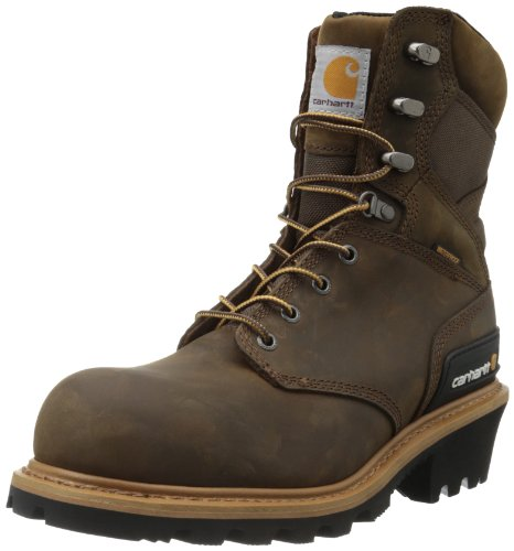 Carhartt Men'S Cml8369 8 Inch Composite Toe Boot,Crazy Horse Brown Oil Tanned Leather,14 W Us