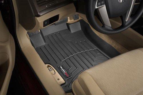 WeatherTech Custom Fit Front FloorLiner for Nissan Maxima (Black) (Weathertech 2014 Nissan Maxima compare prices)