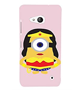 EPICCASE Minion Queen Mobile Back Case Cover For Microsoft Lumia 550 (Designer Case)