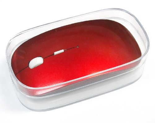 "T-Power Red Color (W/Gift Box ) 2.4G Rf Optical Wireless Usb Mouse For Macbook 13"" Pro Air 11"" Dell Asus Samsung Acer Sony Hp Ibm Lenovo Yoga Toshiba Laptop, Chromebook, Android Tablet"