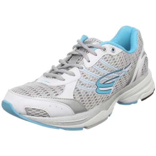 Spira Women'S Odyssey Cushioned Running Shoe,White/Silver/Aquamarine,12 M Us