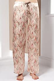 Autograph Weekend Satin Abstract Print Pyjama Bottoms [T37-4775-S]