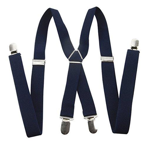 axy Ladies Qualità, larghezza 2,5cm con 4forte clip a forma di X, colore: dark blue, cod. HT25-1