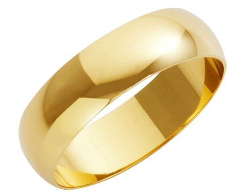 Wedding Ring, 18 Carat Yellow Gold Heavy D Shape,