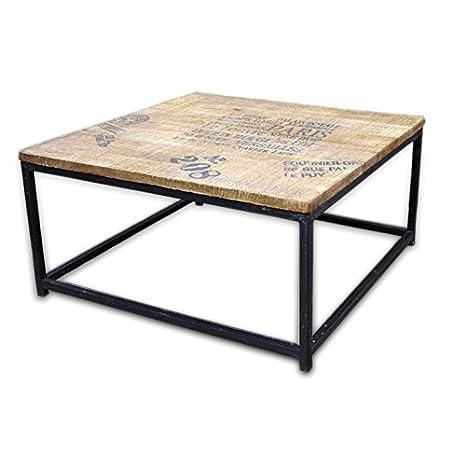 Mesa centro madera de mango y hierro