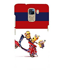 printtech Minions Scooter Back Case Cover for Huawei Honor 7