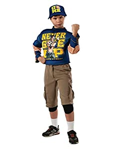 "WWE Costume, Kids Deluxe John Cena Wrestling Outfit, Medium, Age 5 - 7 years, HEIGHT 4' 2"" - 4' 6"""