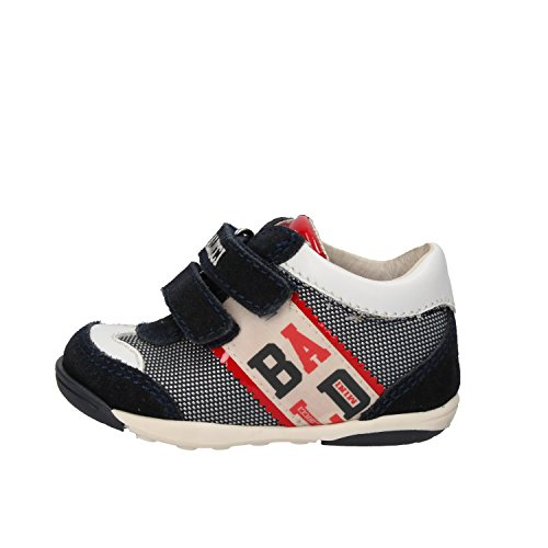 BALDUCCI sneakers bambino 17 EU blu bianco tessuto camoscio pelle AG928-B